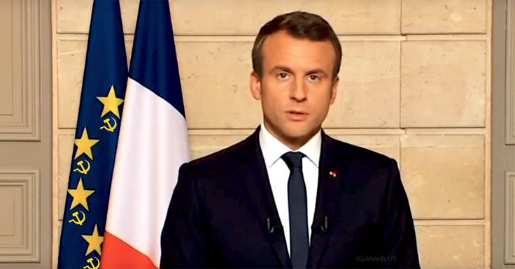 Pre-pubescent French President Macron, follows the marching orders of his globalist masters, attacking President Trump for exiting the Paris climate hoax