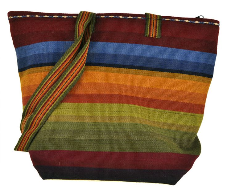 This handwoven Peruvian tote is great for carrying everything you need. A true workhorse of a bag.