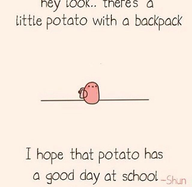 I don't know why but I absolutley LOVE this potato            ('-')