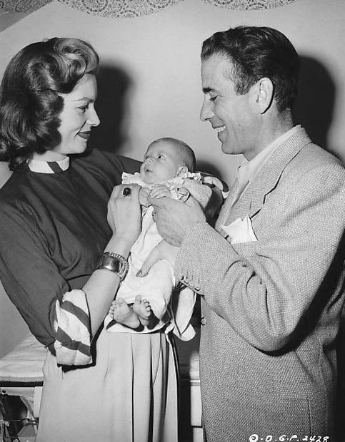 Lauren Bacall, Humphrey Bogart and their daughter Leslie Howard Bogart, named after the actor Leslie Howard. She was only 4 when her father died on January 14, 1957.