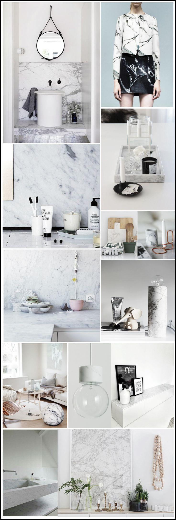 LE MARBRE IS BACK ! mood-board-marbre-tendance marbre par-chiara stella home