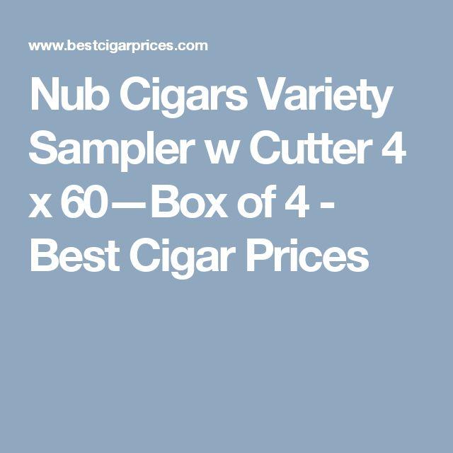 Nub Cigars Variety Sampler w Cutter 4 x 60—Box of 4 - Best Cigar Prices