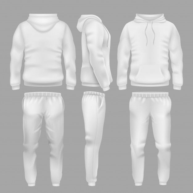 Download White Hooded Sweatshirt With Sports Trousers Active Sportswear Hoodie And Pants Templates Sports Trousers White Hooded Sweatshirt Urban Wear Women