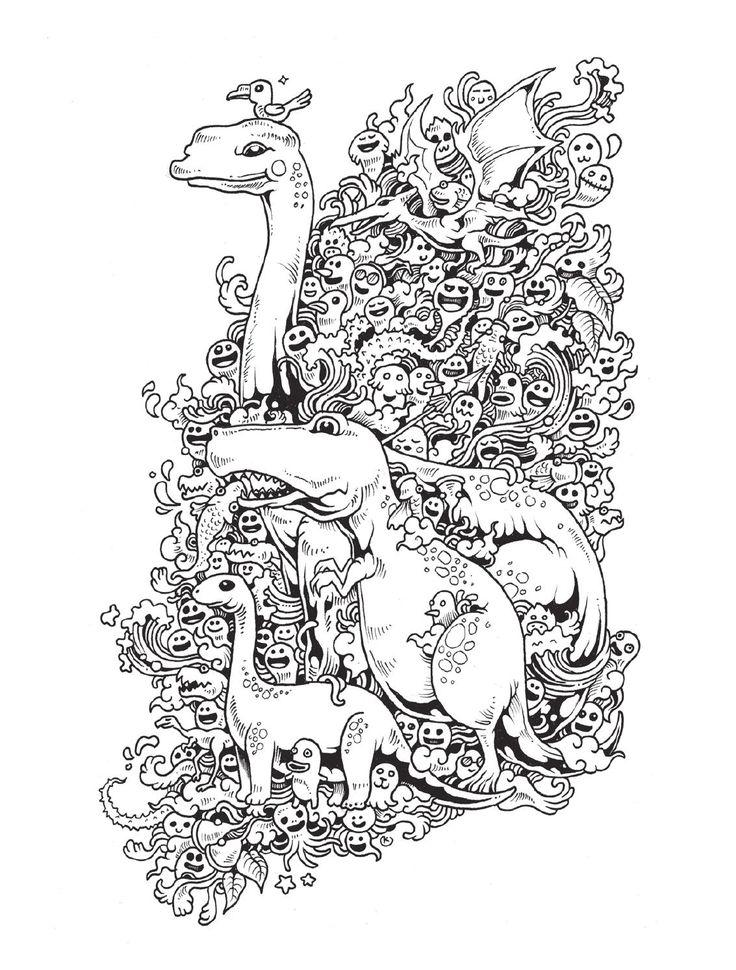 Doodle Invasion Mtm Editores Doodles Adult Coloring