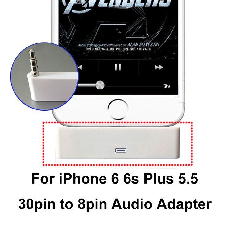 Para iphone 6 6 s plus 5.5 ''applies para 30pin interface de alto falantes Doca 30pin feminino para 8pin masculino 3.5mm de Áudio Adaptador de Carregador de Sincronização em Cabos de Telefone móvel de Telefones & Telecomunicações no AliExpress.com   Alibaba Group