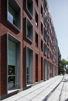 Update: The Hegeman / Cook + Fox The Hegeman / Cook+Fox Architects (2) – ArchDaily  Maar erkers zouden in kleur mogen. Ook mooie baksteen patronen