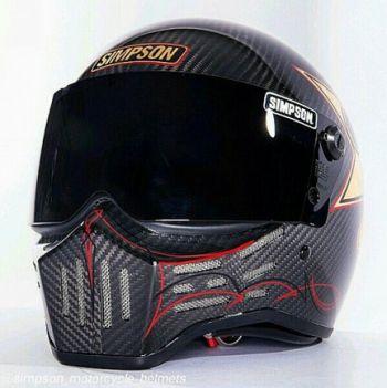 Simpson M30 Custom Carbon Fiber Helmet