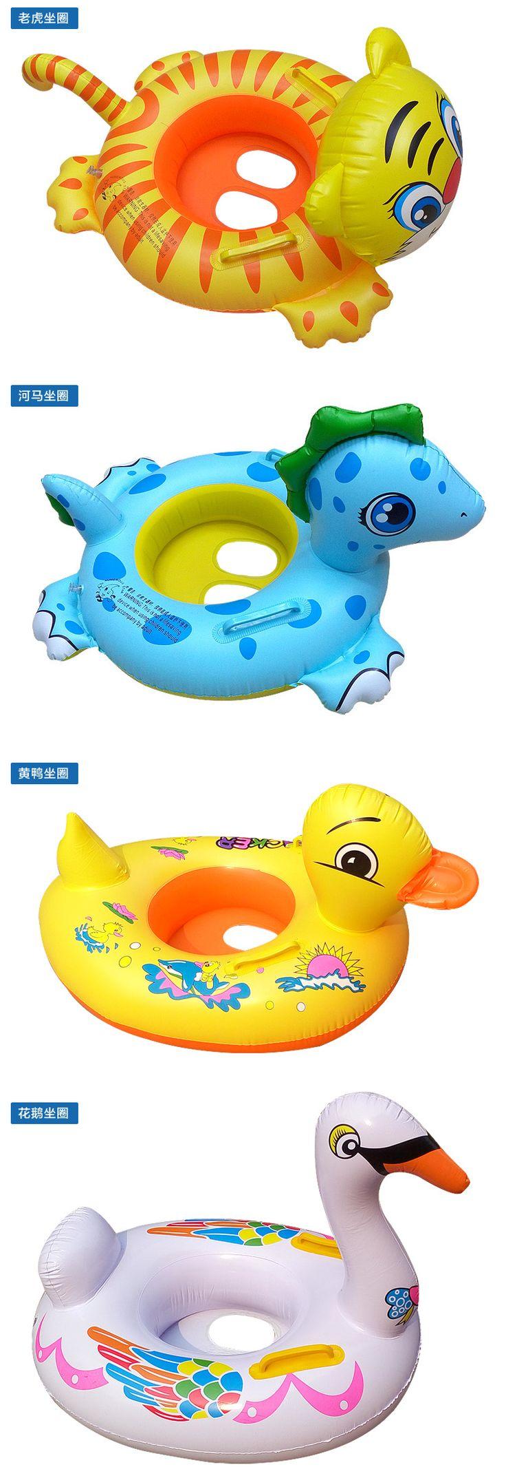 Мультфильм Дети плавать кольцо надувной бассейн кольцо ребенок сидеть на лодке водные игрушки ребенка плавать важно - Taobao