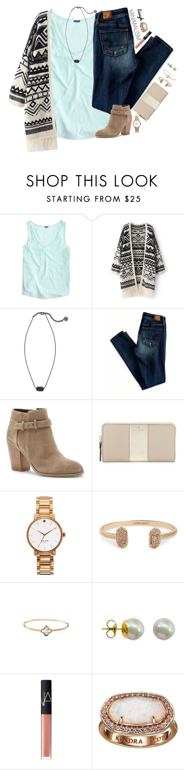 """you are the one that I want."" by kaley-ii ❤ liked on Polyvore featuring J.Crew, Kendra Scott, American Eagle Outfitters, Sole Society, Kate Spade, Majorica and NARS Cosmetics"