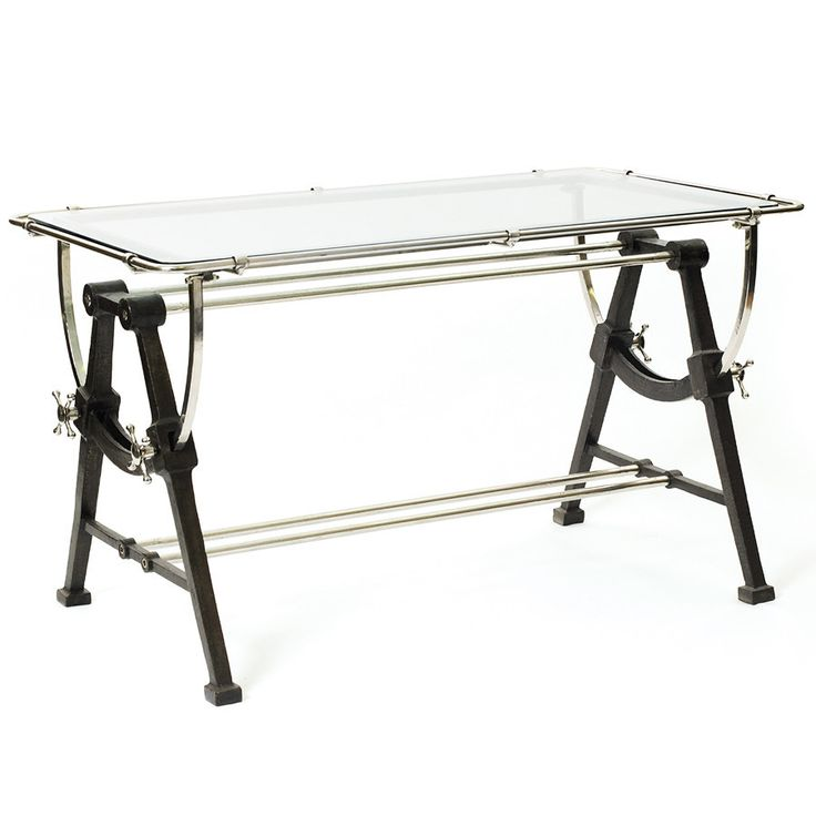 Iron Glass Architect 39 S Desk Desks Furniture And Products
