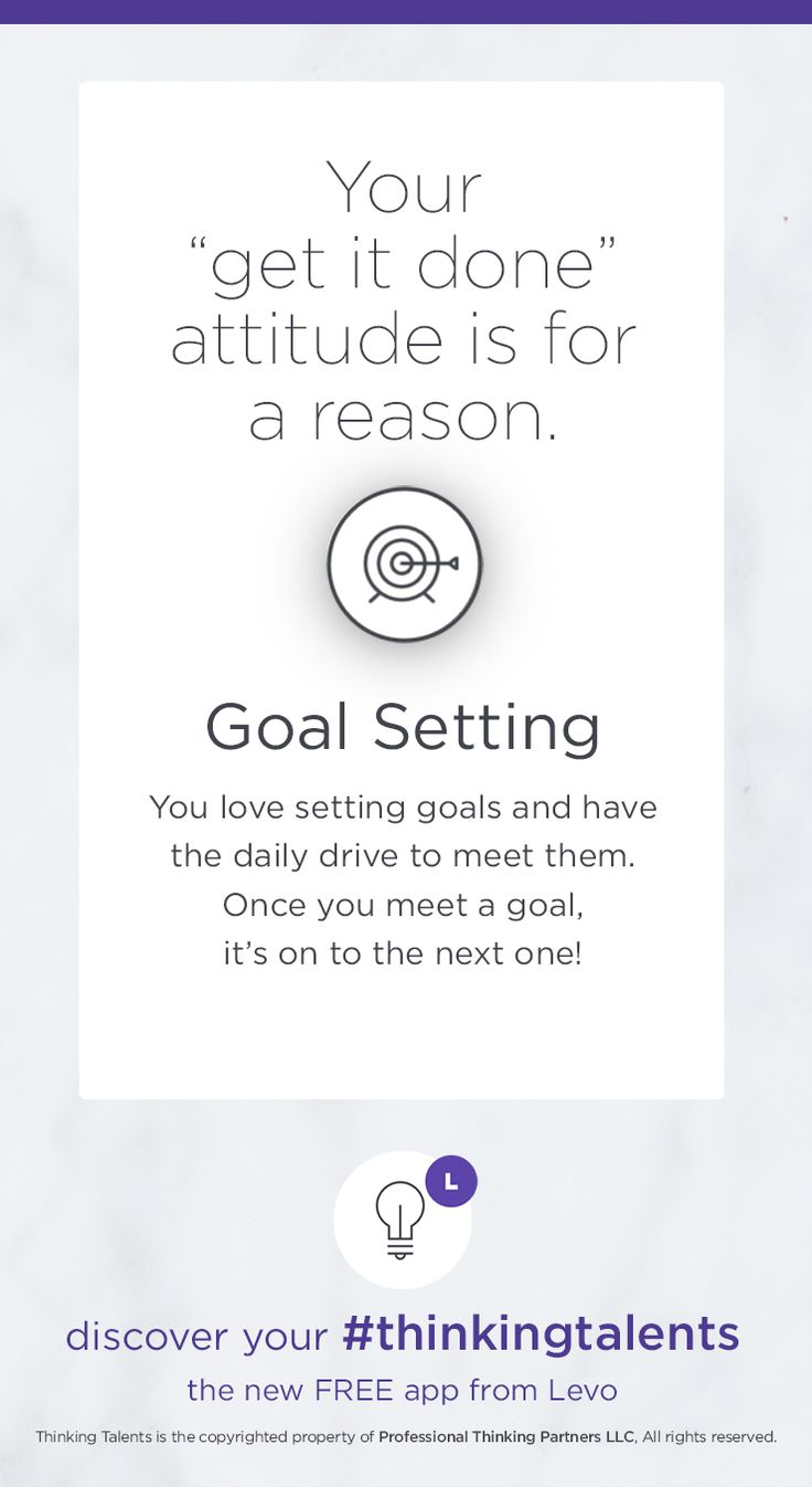 You are determined to meet your goals. Download #ThinkingTalents: https://itunes.apple.com/us/app/thinking-talents-ultimate/id945801636/ Learn more: http://pages.levo.com/thinking-talents-d/