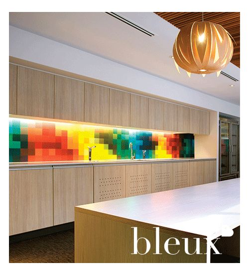 An example of one of bleux's many creative talents - Splashbacks! Commercial and Residential, the designs give the space something extra!