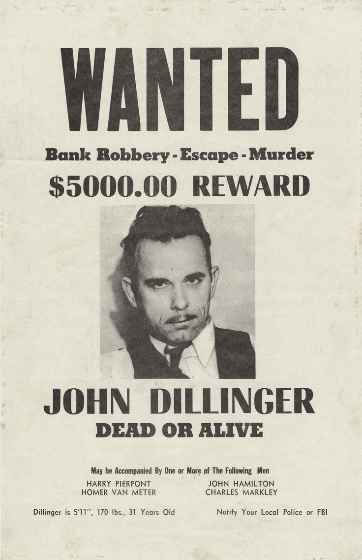 Post In Bathroom  John Dillinger Wanted Poster Fun Idea To Put Bu0026w Pictures  Of Guests All Around The House  Old Fashioned Wanted Poster