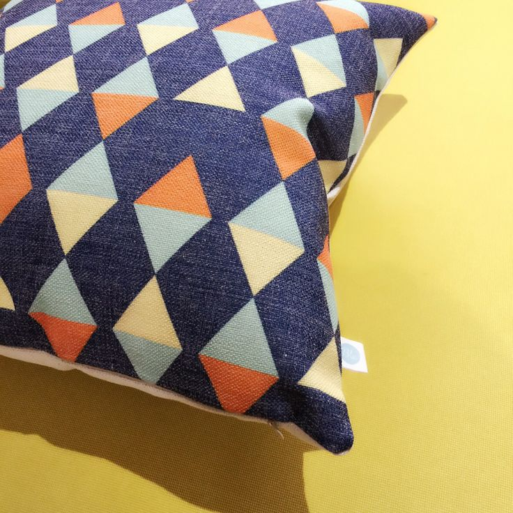 A man is know my the design he keeps  Check out our store for more creative home deco www.etsy.com/shop/BluStore  #cushion #design #australia #melbourne #sydney #perth #brisbane #queensland #creative #pillow #lifestyle #etsyworld #retro #etsy #modern #homeware #homedeco #blue #gift #idea #blue #yellow #triangle #monday