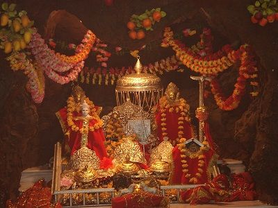 Vaishno Devi Temple: The Himalayan Connect A replica of the popular Vaishno Devi Mandir in Katra, Jammu and Kashmir, this temple houses a mirror image of the shrine in Jammu. The temple was built only a decade back but has garnered popularity over a short period.