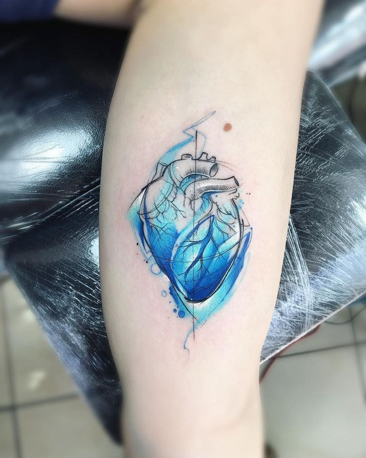 Watercolor Heart Tattoos Watercolor Heart Tattoos Aquarell