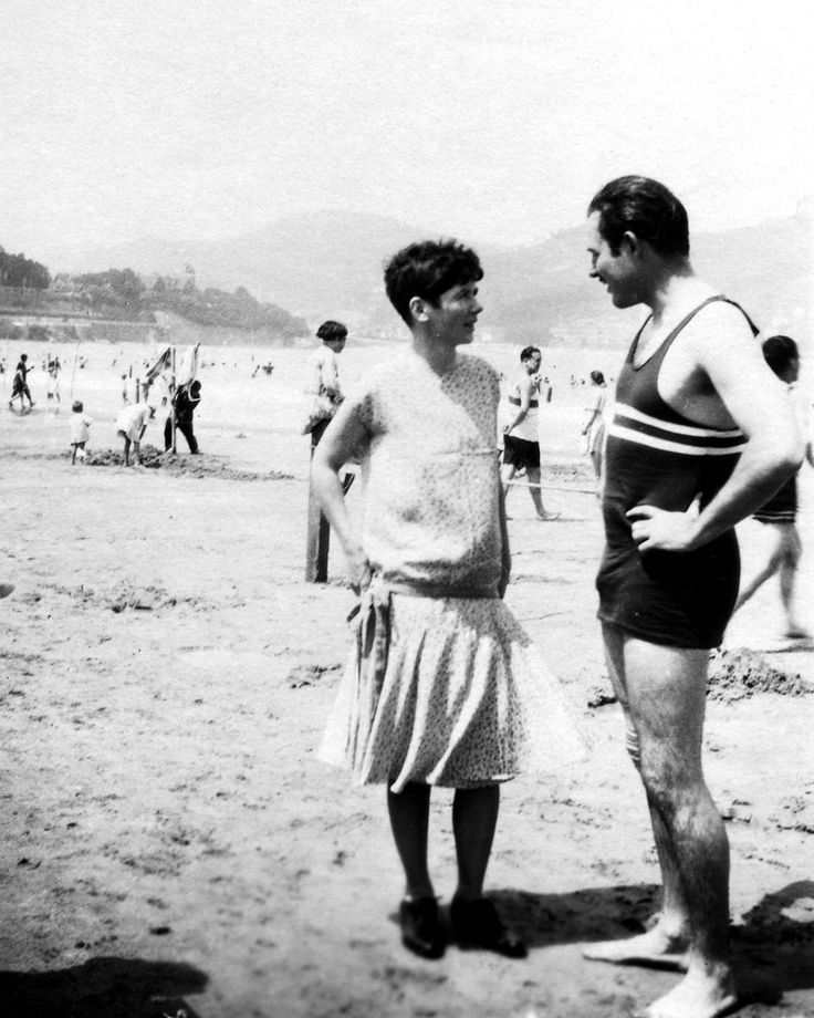 Hemingway et Pauline à san sebastian, espagne, 1927