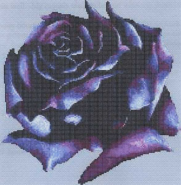 Dark Rose Cross Stitch Pattern - Item Detail for SEW-683 at Gryphon's Moon