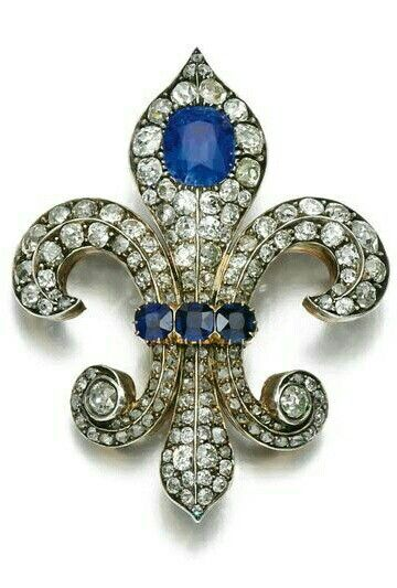 SAPPHIRE AND DIAMOND BROOCH, LATE 19TH CENTURY.   © 2015 Sotheby's