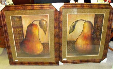 Framed wall art perfect for dining or kitchen, pears. #carolescollections