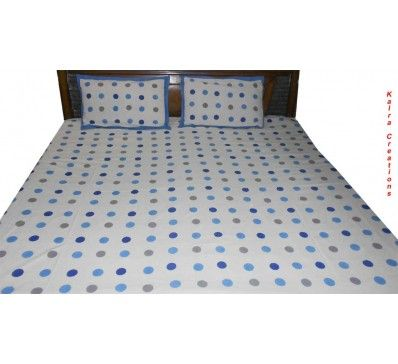 Pure #Cotton #Designer Double Bed #Bedsheet With 2Pcs Of #Pillow Cover http://kalracreations.com/home-furnishing/bedsheets/pure-cotton-designer-double-bed-bedsheet-with-2pcs-of-pillow-cover.html