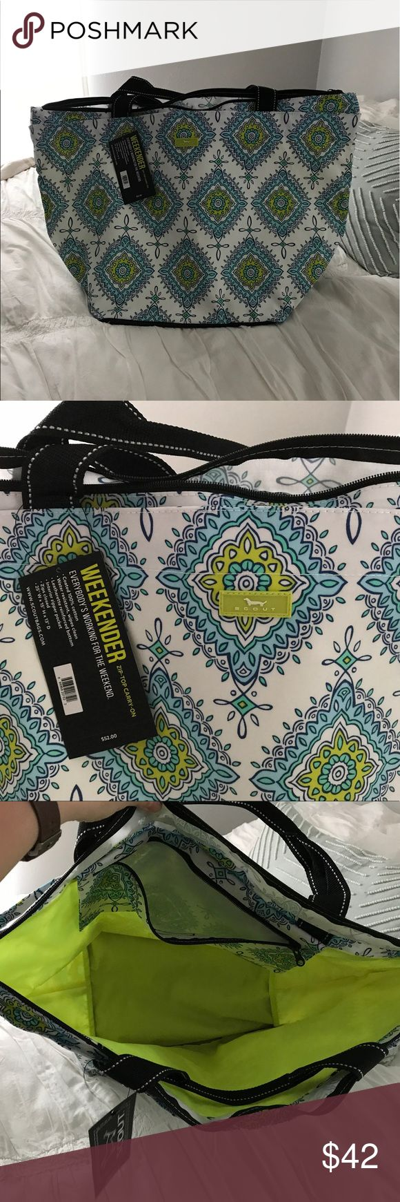 """Scout Weekender Bag Brand new! Never used. Water resistant, wipes clean. 25"""" W x 15"""" H x 13"""" D - great for the pool or beach! Scout Bags Travel Bags"""