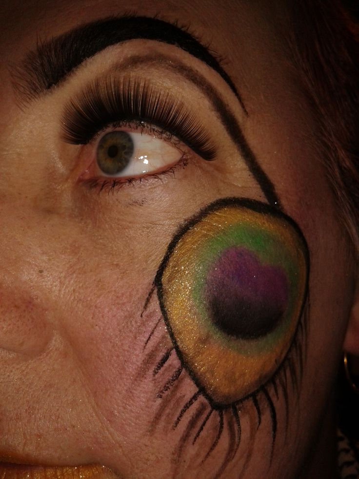 Make-up to complete the look - Steampunk peacock feather on my left eye.   Make up by the insanely talented - Ruby Jewelz https://www.facebook.com/Sir.Gaga.21?fref=ts
