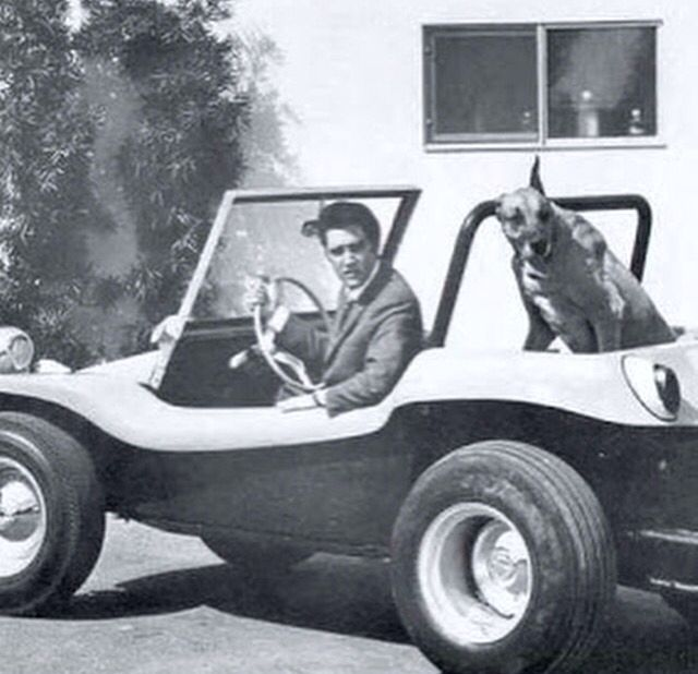 Elvis and his Myers Manx dune buggy
