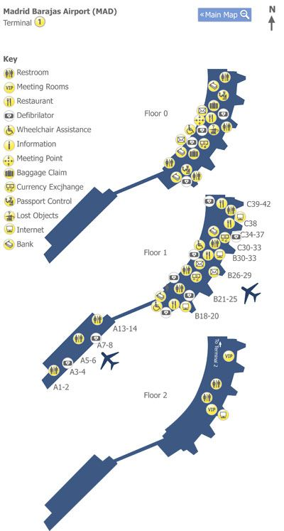 #Madrid Barajas Airport Terminal 1 Map