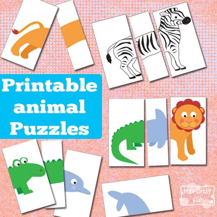 Printable Animal Puzzles - Busy Bags