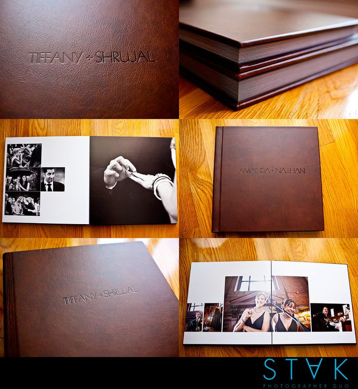Brown Distressed Album STAK Photography