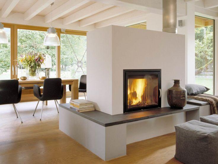 Kamin im Ökohaus Schauer von Baufritz • Mit Musterhaus.net Inspirationen für hochwertige Kamine sammeln!