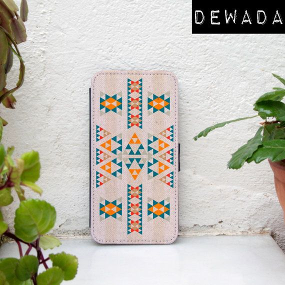 geometric iphone 6 wallet case ethnic pattern by DeWadaSTORE
