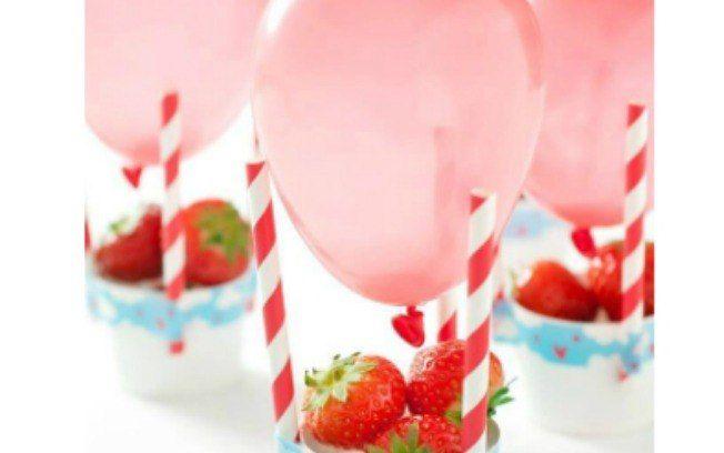 Balões com frutas para uma festinha saudável