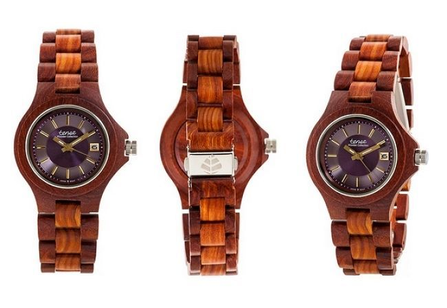 Tense Watch Mens natural wood Rosewood and Maple G4302R-V BRAND NEW WITH TAGS