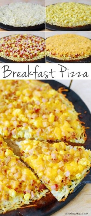 #8. Breakfast Pizza with a Hash Brown Crust -- 30 Super Fun Breakfast Ideas Worth Waking Up For