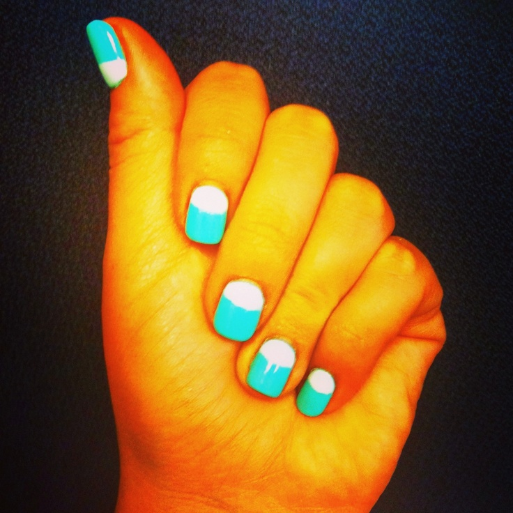 Inverted French mani.
