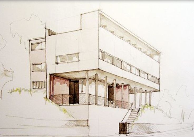 Charles Edouard Jeanneret Better Known As Le Corbusier Drawing