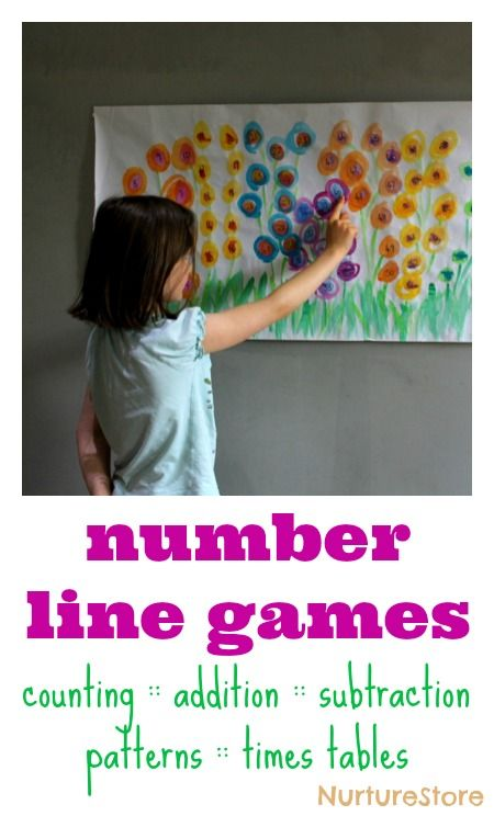 Great ideas for number line games - hands-on math activities :: spring math activities