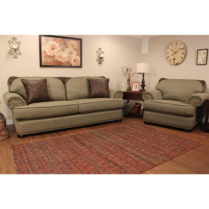 latest sofa designs for living room%0A Complete your home design with this stylish sofa and chair  The soft tweed  fabric is    Living Room