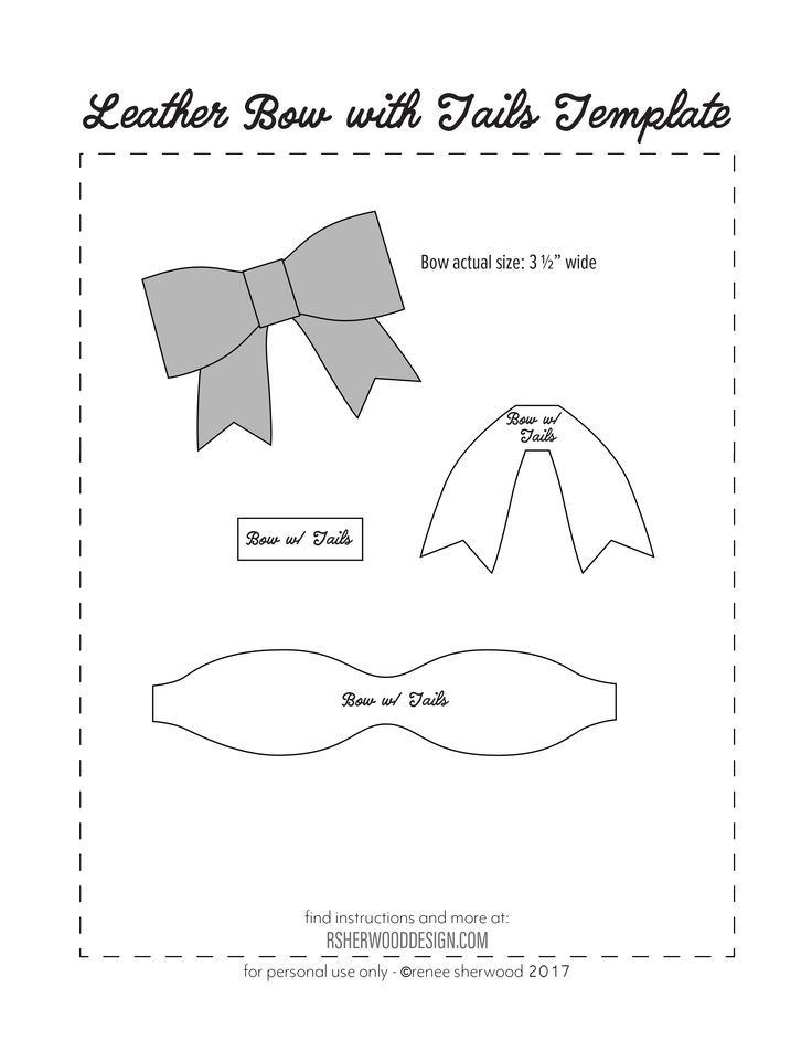 Image Result For Free Hair Bow Card Holder Template Diy Baby