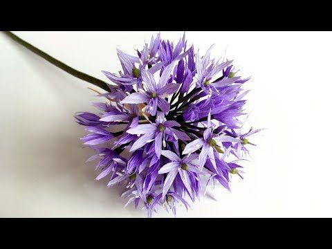 ABC TV | Como fazer flor de papel Allium a partir do papel Crepe - Tutorial de artesanato - YouTube
