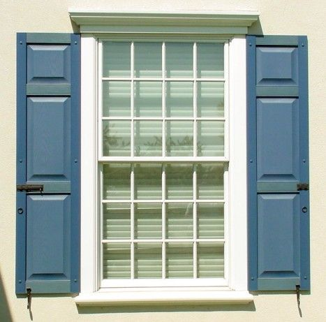 decorative shutter hardware installed on shutters - Shutter Hardware