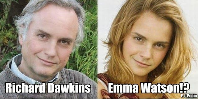 Richard Dawkins Emma Watson   Irreligious Religion