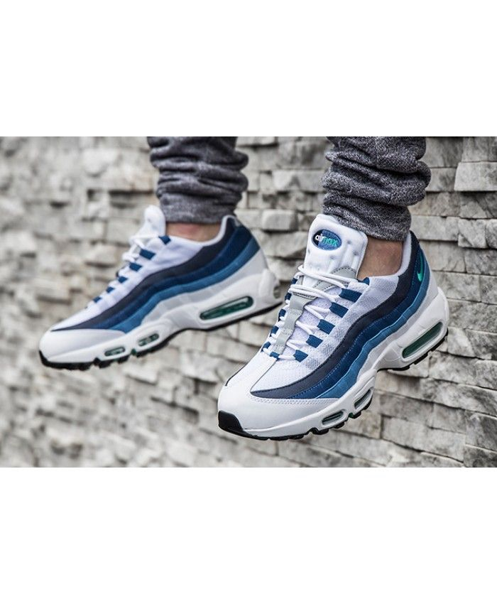 separation shoes 09068 697c5 Nike Air Max 95 Ultra Royal White Grey Trainers