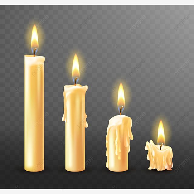 Burning Candle Dripping Or Flowing Wax Realistic Candle Flame Lit Png And Vector With Transparent Background For Free Download Dripping Candles Candles Fire Candle