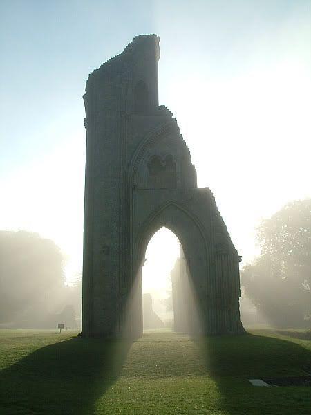 Glastonbury, England   the resting place of King Arthur.