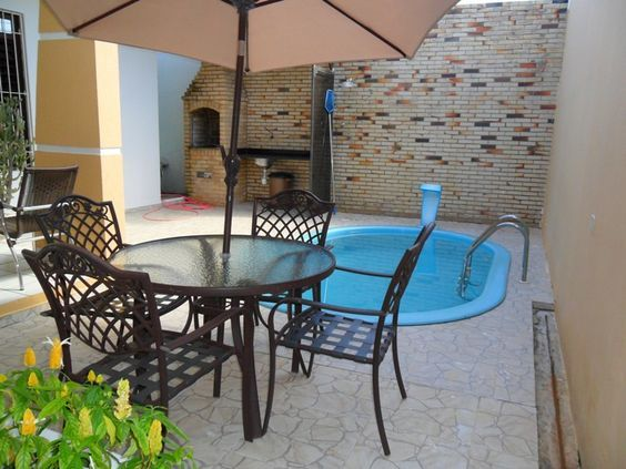 decoração-quintal-pequeno-simples-piscina:
