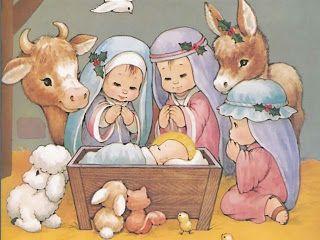 Imagenes de postal de navidad infantiles