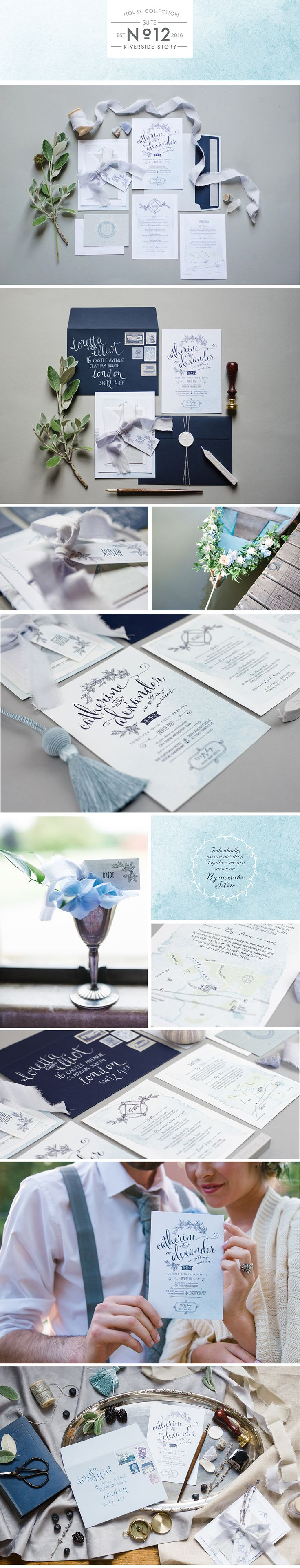 Paperknots Riverside Story Wedding Stationery (images by Hannah McClune) http://www.paperknots.co.uk/portfolio/riverside-story/